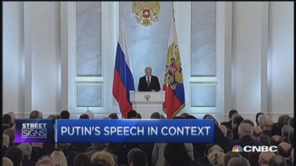 Putin sugarcoats sanctions
