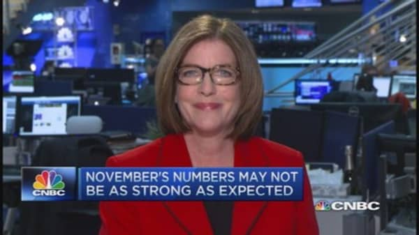 November's job growth to surpass October's numbers?