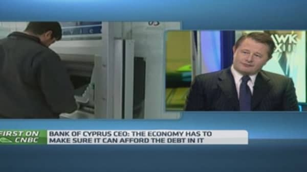 Cyprus economy resilient: Bank of Cyprus CEO