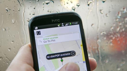 Uber app in Berlin