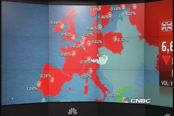 Europe closes lower, led by construction stocks