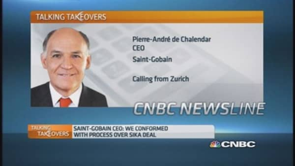 Sika deal will happen: St Gobain CEO