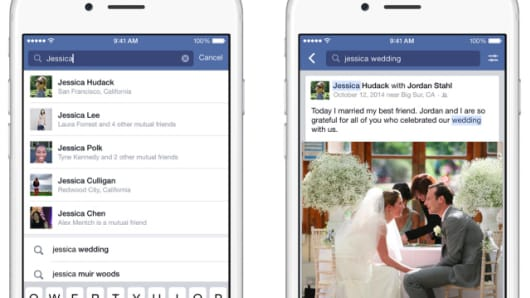 New Facebook Search includes the ability to search for posts and photo captions.