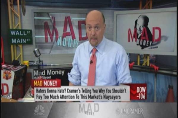 Cramer: Bright side of selloff