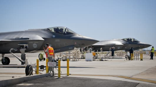 Lockheed Martin and 33rd Fighter Wing personnel work with 96th Fuels Flight airmen at Eglin Air Force Base, Florida.