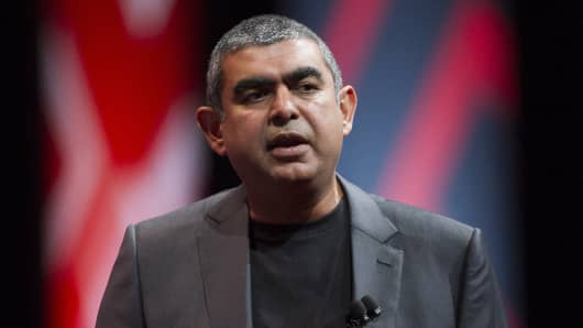 Vishal Sikka, chief executive officer of Infosys Ltd.