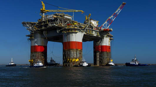 Chevron Jack/St. Malo platform in the Gulf of Mexico.