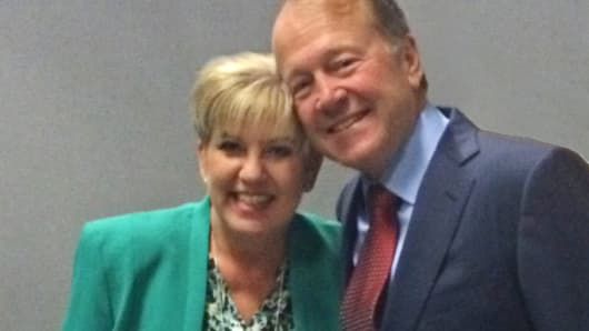 Debbie Gross and John Chambers.