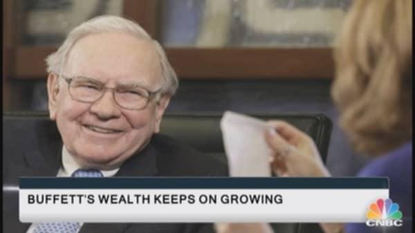 Buffett's wealth keeps on growing