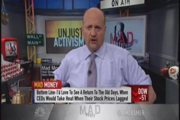 Companies begging for activist to strike: Cramer