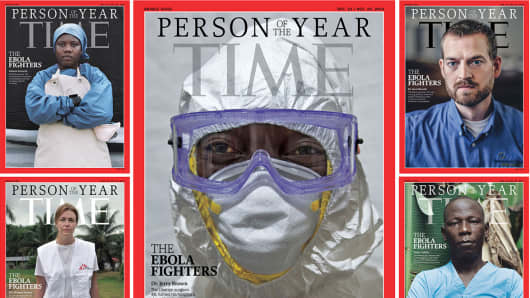 The various covers of Time's 2014 Person of the Year issue