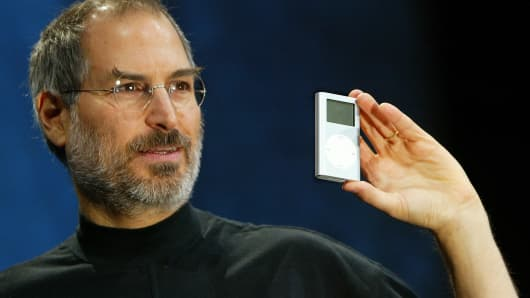 Steve Jobs at Macworld in 2004.