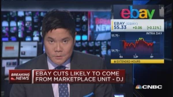 EBay considers cutting thousands of jobs: DJ
