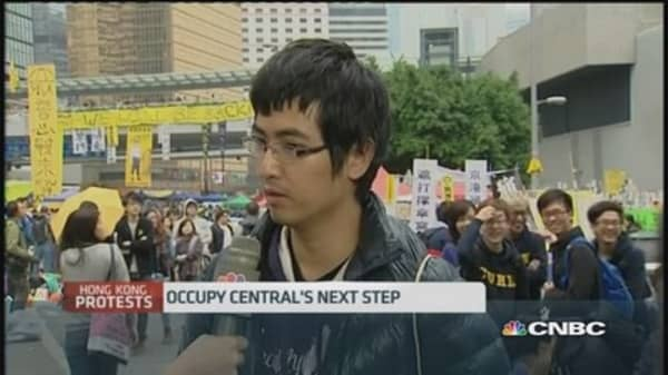 HK student leader: Protests not in vain
