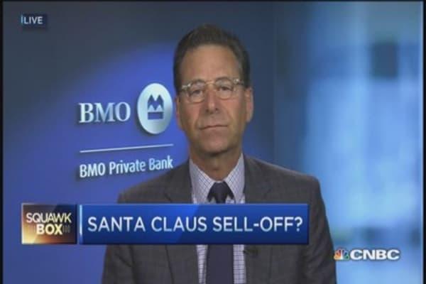 Santa 'pause' rally?