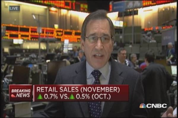 November retail sales up 0.7%