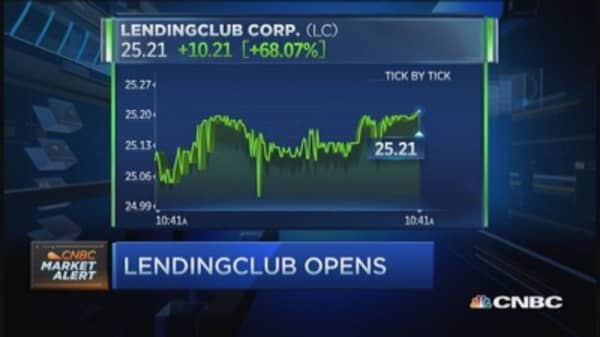 LendingClub opens at $24.72