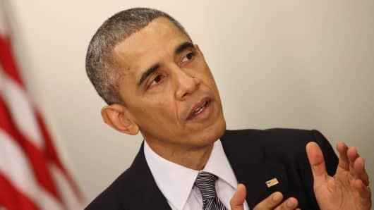 President Barack Obama delivers remarks on December 11, 2014 in Washington.