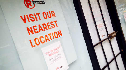 RadioShack closes a store in New York.
