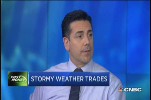Stormy weather, cool trades