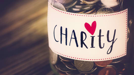 Charity money savings jar