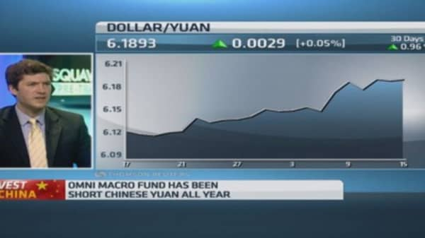 Here's why you should short the Chinese yuan