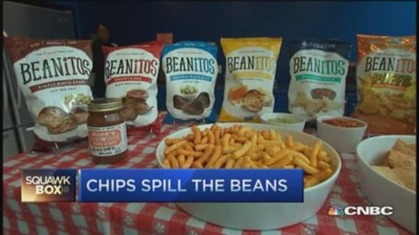 Chips made from beans