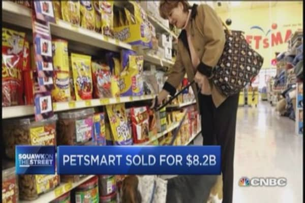 PetSmart sold for $8.2 billion