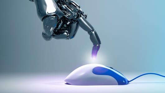 Robo investing robot hand mouse