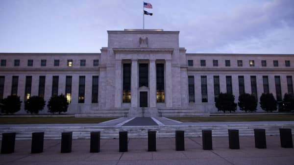 The U.S. Federal Reserve building stands in Washington, D.C. was one of several government buildings that lost power due to a blown transformer on Dec. 15. 2014.