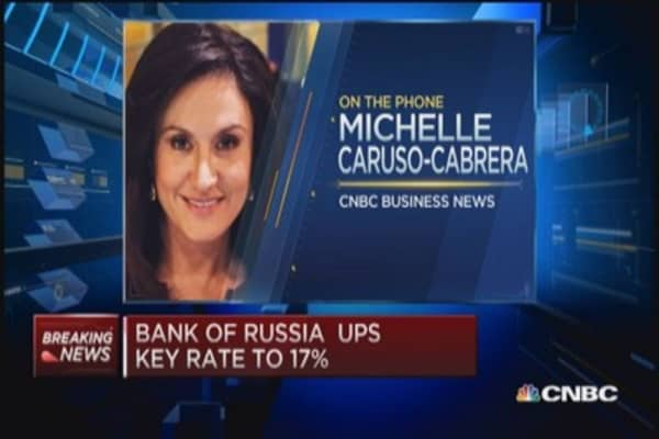 Bank of Russia ups key rate to 17%
