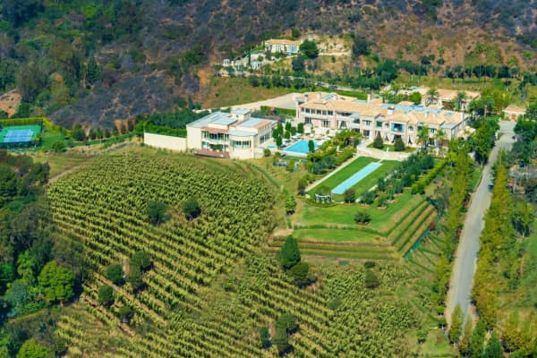 This 25 acre, 35,000 square foot Beverly Hills estate entered the market this November at $195M, making it the most expensive listing of 2014.