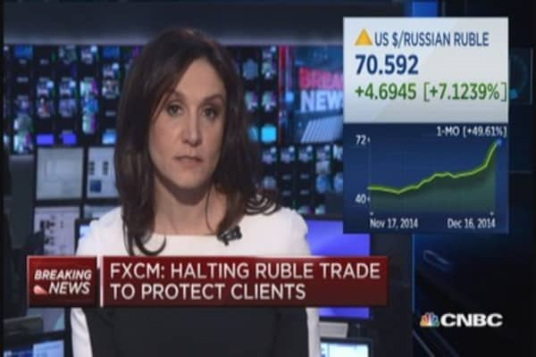 FXCM halting ruble trading: Report