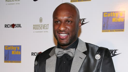Lamar Odom at a Cathy's Kids Foundation event