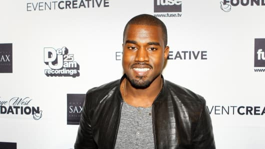 Kanye West before the Kanye West Foundation reception and benefit concert at the Chicago Theatre in Chicago, June 11, 2009.