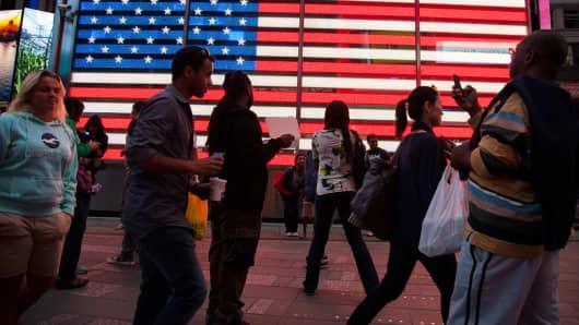 Americans American flag