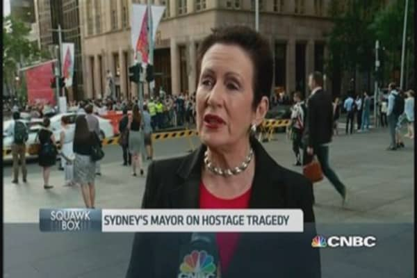 Sydney mayor: 'Siege won't change us'