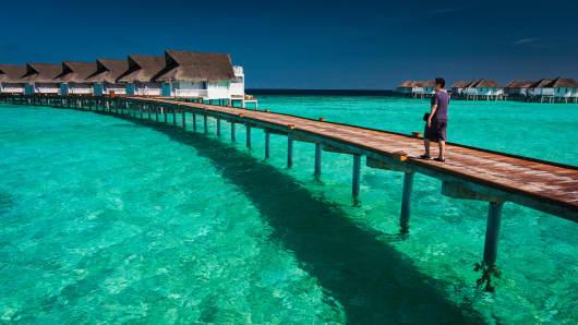 The Centara Grand Island Resort & Spa in the Maldives.