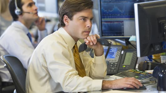Traders at desk