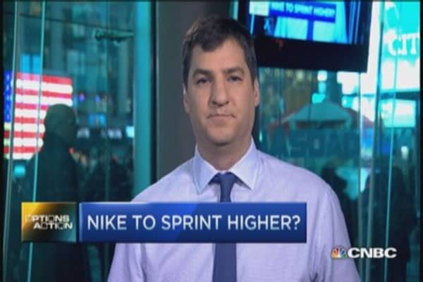 Options Action: Nike to sprint higher?