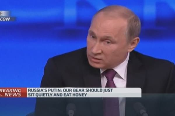 Is Russia'a bear just want a 'stuffed animal'?
