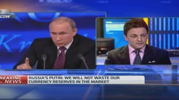 Putin's speech seemed 'relatively calm'