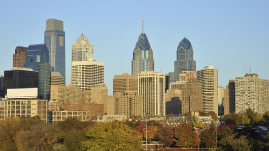 Philadelphia's city center