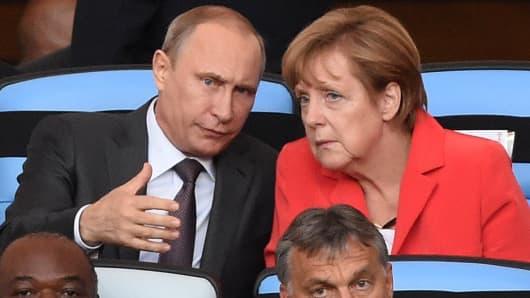 German Chancellor Angela Merkel and Russian President Vladimir Putin