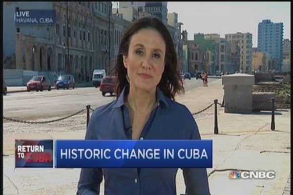 Historic change in Cuba