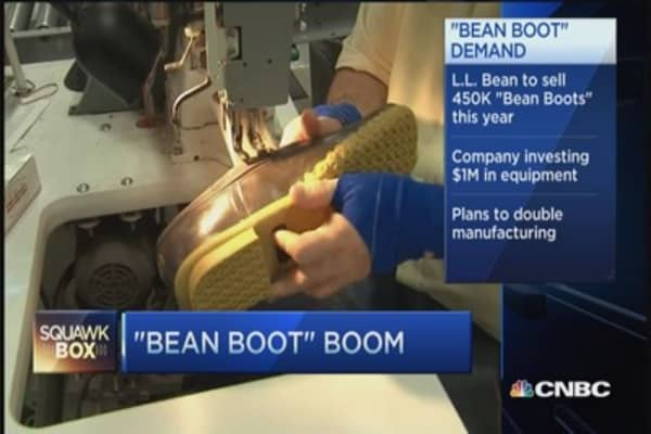 L.L. Bean's boot boom going strong