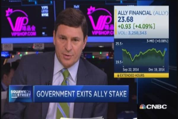 US government exits Ally Financial
