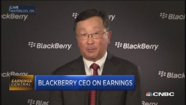 BlackBerry CEO: BES 12 providing good biz