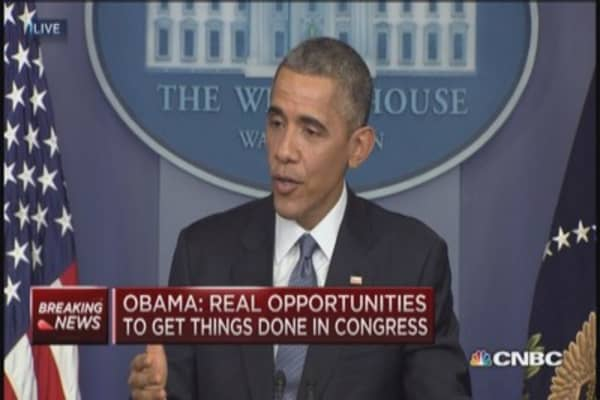 President Obama: Real opportunity to work with Congress