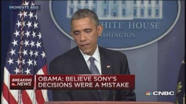 Sony made mistake, US will respond to hackers: Obama